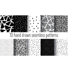 hand drawn seamless triangle pattern vector image