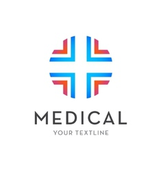 medical logo - cross isolated vector image