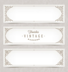 Ornate banners vector image vector image