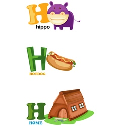 alphabet letter - H vector image vector image