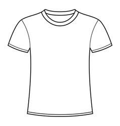 Blank white t-shirt template vector