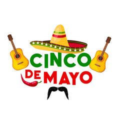mexican cinco de mayo fiesta party greeting card vector image