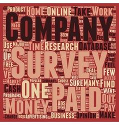 Paid Survey text background wordcloud concept vector image