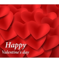 Valentines red paper hearts vector image