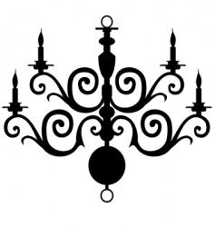 chandelier silhouette vector image