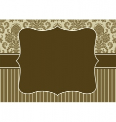 damask pattern and border vector image vector image