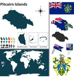 Pitcairn Islands map vector image vector image
