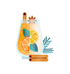 vitamin healthy herbal tea spicy drink with with vector image