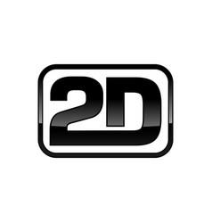 2d framed logo mark design vector image