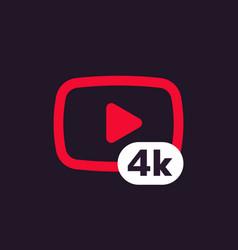 4k video icon vector image