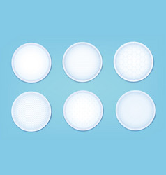 A set of cotton pads with a different texture vector
