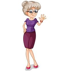 A teacher with an eyeglass vector image