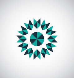 abstract geometrical symbol logo vector image