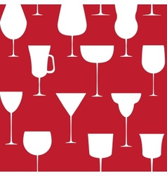 Alcoholic glass seamless pattern EPS 10 vector image