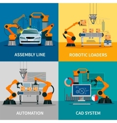 Automation Concept Icons Set vector