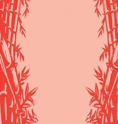 Background Sketch of Oriental Bamboo vector image vector image