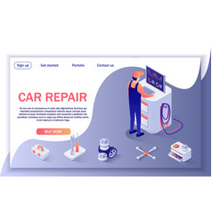 Banner for car repair shop and diagnostic service vector