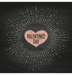 black chalk board romantic set greeting card vector image