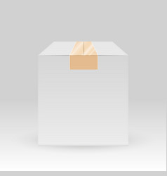 blank white box with adhesive scotch tape vector image