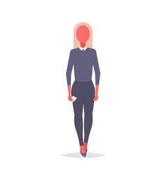 blonde businesswoman holding smartphone elegant vector image