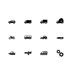 Cars and Transport icons on white background vector image