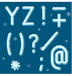 cartoon ice alphabet vector image
