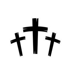christian crosses icon vector image