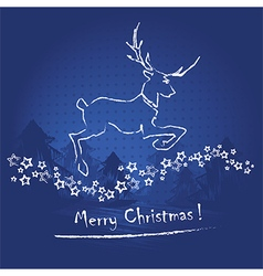 christmas card or invitation vector image
