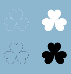 clover the black and white color icon vector image