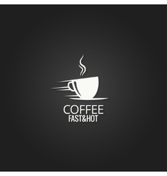 coffee cup concept design background vector image