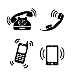 Collection of ringing phones vector