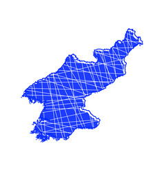 colored north korea map vector image