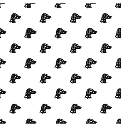 Dalmatians dog pattern simple style vector image