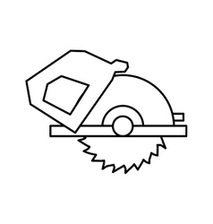 Electric Saw tool icon Construction and repair vector