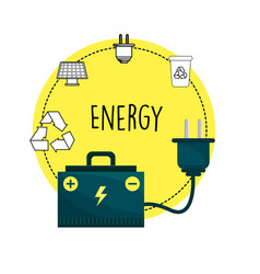 Energy logger and environment care icons vector