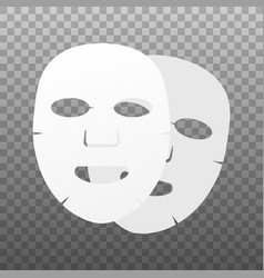 Facial mask flat icon medicine cosmetology and vector