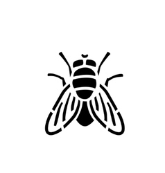 Fly stencil icon vector