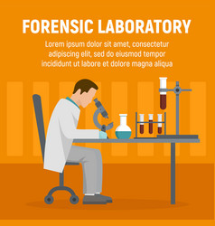 Forensic laboratory chemical tube concept vector
