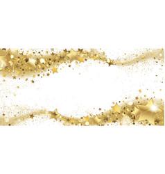 Frame golden sparkling stars vector