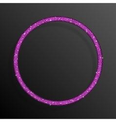 Frame Pink Sequins Circle Glitter sparkle vector