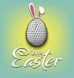 Happy easter golf ball in form a egg vector