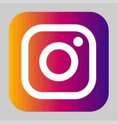 instagram logo icon vector image