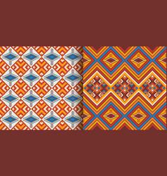 kente cloth african textile ethnic seamless vector image
