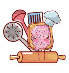 Kitchenware and ingredients cartoon vector