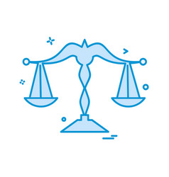 libra icon design vector image