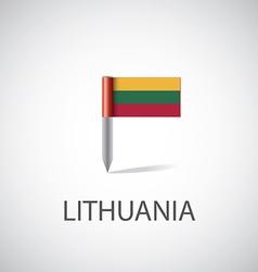 Lithuania flag pin vector