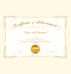 Luxury certificate template with elegant border vector