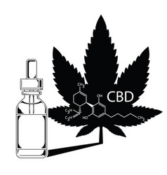 Medical marijuana cannabis oil extract in bottle vector