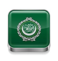 Metal icon of Arab League vector image