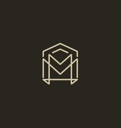 mm home logo vector image